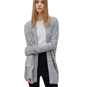 Talula aritzia women's grey lenox cardigan